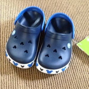 NWT Disney Mickey Mouse Crocs
